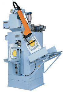 Automat pakujący produkt w worki wentylowe o wadze 25-50 kg z prędkością 250 worków/h