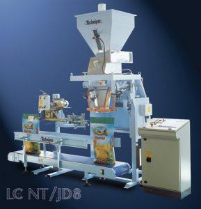 Półautomat pakujący produkt do worków otwartych o wadze 25-50 kg, prędkość pakowania do 200 w/h