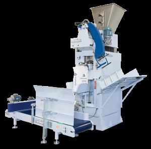 Automat pakujący produkt w worki wentylowe za pomocą śruby o wadze 25-50 kg z prędkością 250 worków/h